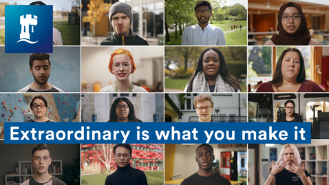 Thumbnail for entry Extraordinary is what you make it #WeAreUoN 💙