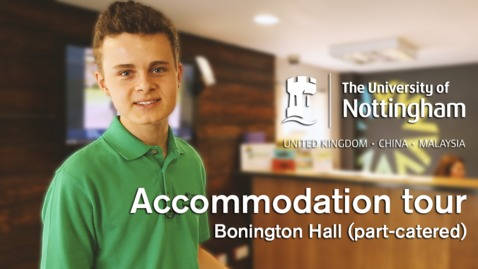 Thumbnail for entry Sutton Bonington Campus - Bonington Student Village (part-catered accommodation)
