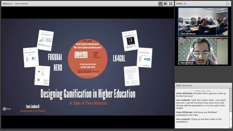 Thumbnail for entry Gamification Teaching & Learning Seminar: Ivan Lombardi 6 April 2016