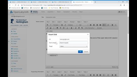 Thumbnail for entry 6. Inputting hyperlinks