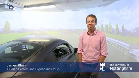 Human Factors and Ergonomics MSc student James Kahn