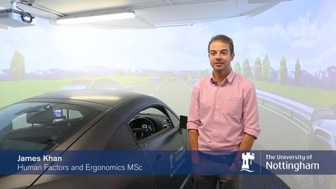 Thumbnail for entry Human Factors and Ergonomics MSc student James Khan