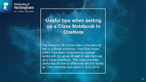 Thumbnail for entry Useful tips when setting up a Class Notebook in OneNote