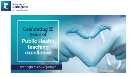 Thumbnail for entry Masters of Public Health (MPH) - the student experience
