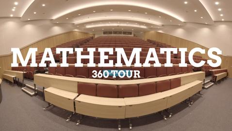 Thumbnail for entry Mathematics 360 facilities tour