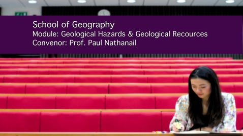 Thumbnail for entry Geological Hazards and Resources (GEOG3035)