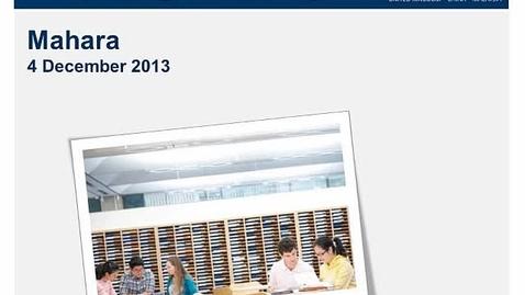 Thumbnail for entry December 2013 E-Learning community - Kirstie Coolin & Judith Wayte - Mahara
