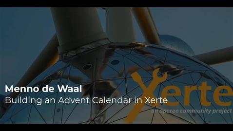 Thumbnail for entry Menno deWaal - Build an Advent Calendar in Xerte