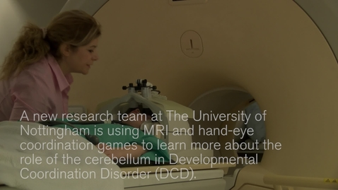Thumbnail for entry MRI scans could improve our understanding of dyspraxia