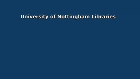 Thumbnail for entry University of Nottingham Libraries - Insights from our students