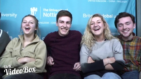 Thumbnail for entry Students tell us what Christmas means to them... | #UoNVideoBox