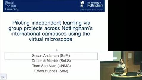 Thumbnail for entry Susan Anderson (GEM) -  Virtual Microscope, e-learning community November 2015