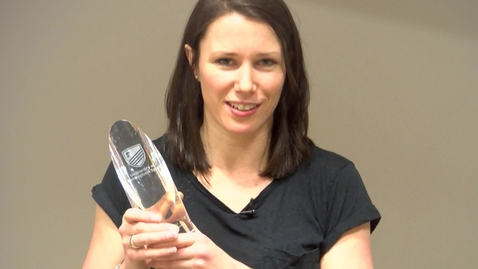 Thumbnail for entry Annie Panter accepts our Greatest Sportswoman award