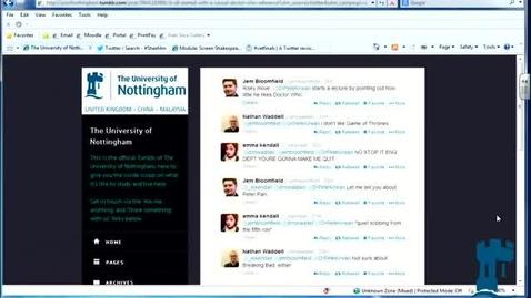 Thumbnail for entry March 2014 E-Learning community - Peter Kirwan (English) - Twitter