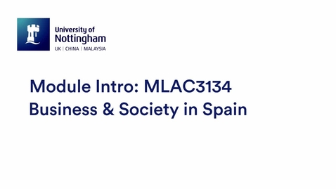 Thumbnail for entry MLAC3134 Business & Society in Spain ESP