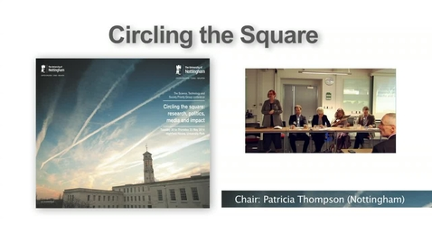 Thumbnail for entry 2. Panel on 'the science-policy interface', Fanelli, Jasanoff, Taylor and Tyler (Circling the Square I)