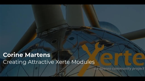 Thumbnail for entry Corine Martens - Building attractive Xerte modules: how do you do that?