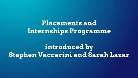Thumbnail for entry Open Days Placements Video - Faculty of Social Sciences