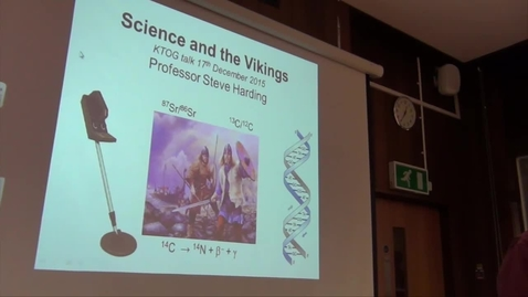 Thumbnail for entry Science and the Vikings - by Steve Harding