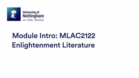 Thumbnail for entry MLAC2122 Enlightenment Literature