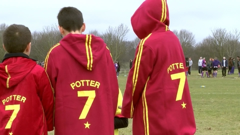 Thumbnail for entry Brooms up! This is quidditch.