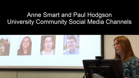 Thumbnail for entry UoNSMart: Anne Smart and Paul Hodgson - Social Media Channel