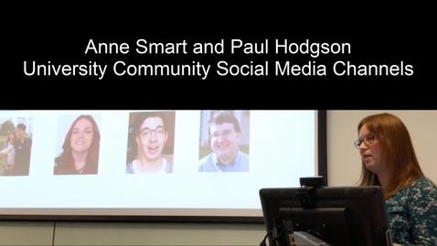Thumbnail for entry UoNSMart: Anne Smart and Paul Hodgson - Social Media Channel