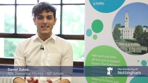 Thumbnail for entry Daniel Sykes a BP scholar