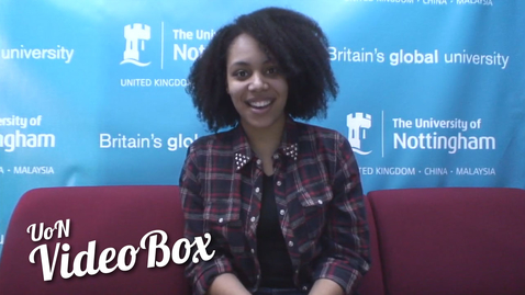 Thumbnail for entry Why did you choose Nottingham? | #UoNVideoBox