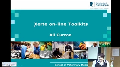 Thumbnail for entry January 2014 E-Learning community  - Ali Curzon (School of Veterinary Medicine) - Xerte Online Toolkits