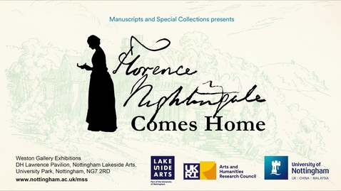 Thumbnail for entry Florence Nightingale Comes Home: The Florence Nightingale Collection