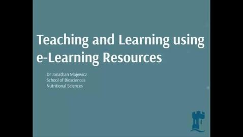 Thumbnail for entry Dr Jonathan Majewicz - Teaching and Learning using e-Learning Resources, e-learning community May 2014