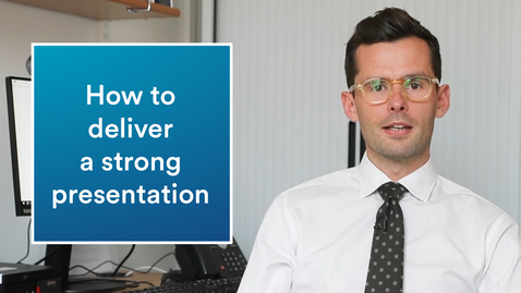 Thumbnail for entry Career advice | How to give a strong presentation
