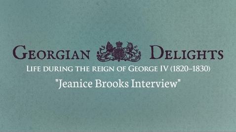 Thumbnail for entry Georgian Delights: Jeanice Brooks Interview