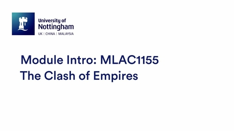 Thumbnail for entry MLAC1155 The Clash of Empires