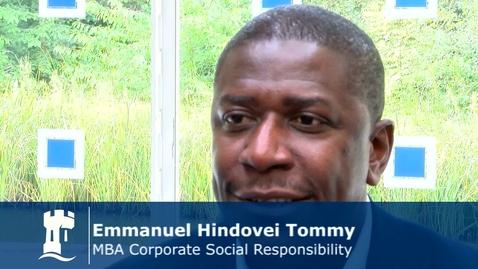 Emmanuel Tommy - MBA CSR Student
