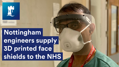 Thumbnail for entry Nottingham engineers supply 3D printed face shields to NHS