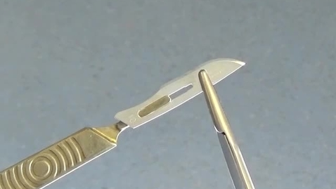 Thumbnail for entry Handling scalpel blades