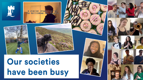 Thumbnail for entry UoN societies - socially distanced but socially active