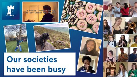 Thumbnail for entry UoN societies - socially distanced but socially active