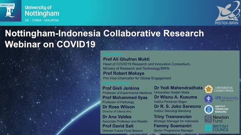 Thumbnail for entry Nottingham-Indonesia Collaborative Webinar on COVID-19