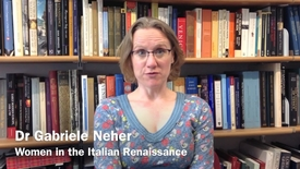 Thumbnail for entry History of Art 'Module in a Minute' - Renaissance Women by Dr Gabriele Neher