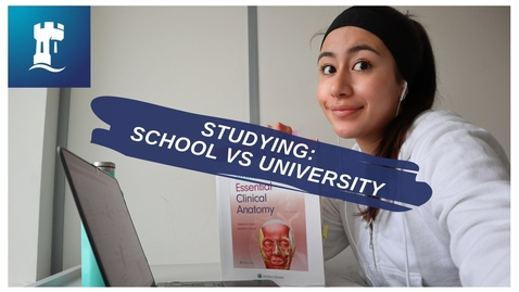 Thumbnail for entry Vlog: Studying at university vs studying at school/college