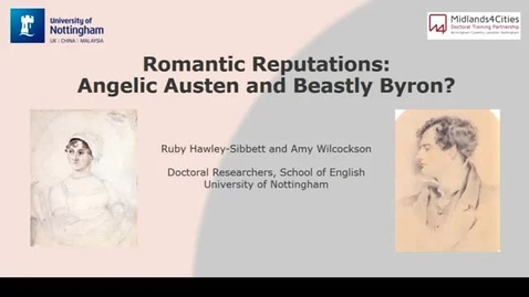 Thumbnail for entry Romantic Facts and Fantasies - Romantic Reputations: Angelic Austen and Beastly Byron?