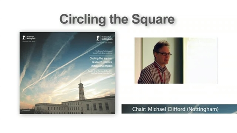 Thumbnail for entry 6. Panel on 'taking a stance or calming the waters - challenging established science', Dyer, Pielke Jr, Smith, Turner (Circling the Square I)