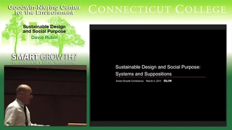 Thumbnail for entry Sustainable Design and Social Purpose
