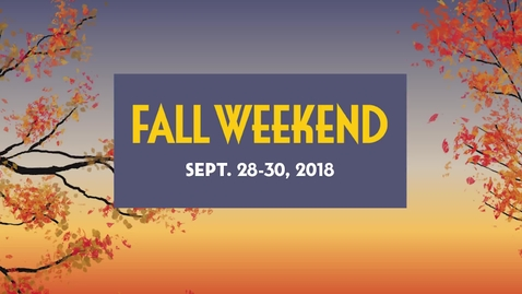 Thumbnail for entry Fall Weekend 2018