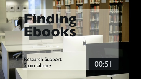 Thumbnail for entry Finding Ebooks 2021