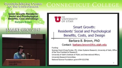 Thumbnail for entry Smart Growth: Residents' Social and Psychological Benefits, Costs, and Design