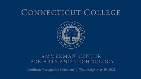 Thumbnail for entry Ammerman Center Certificate Recognition Ceremony